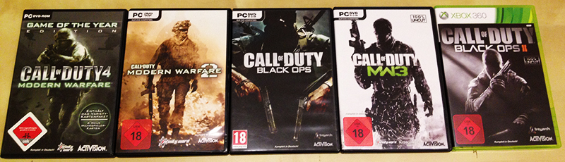 alle call of duty spiele