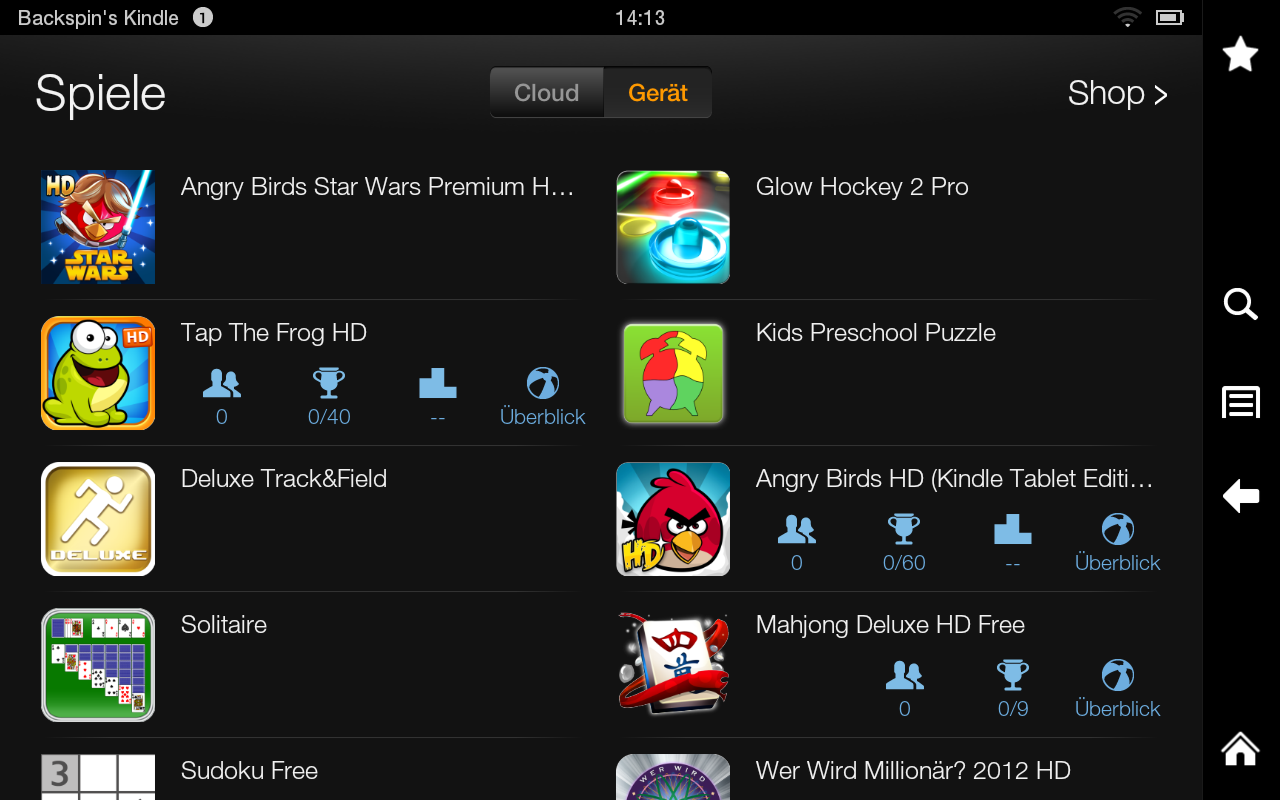 Kindle Fire Screenshot